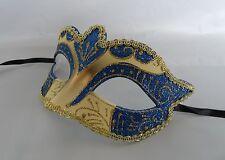 Mardi Gras Venetian Masquerade Party Mask - Blue & Gold - NEW -  Express Post
