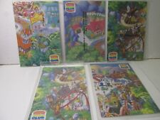 Burger King Set Of 5 Mickey's Toontown Disneyland Map Kids Club Toy   t5060