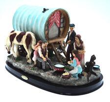 Hand Made Gypsy Caravan Scene with Caravan Ornament Mantlepiece Display Statue