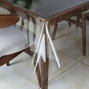 Clear Vinyl Tablecloth Protector Waterproof/Oil-Proof Plastic Square Transparent
