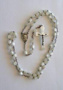 Chapelet nacre ND Lourdes 38,5 cm argent 7,3 grammes