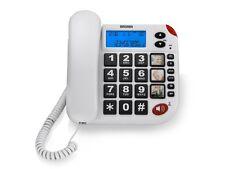 TELEFONO FISSO ANZIANI BRONDI SUPER BRAVO LCD GRANDI TASTI INDICATORE LUMINOSO