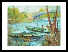 Vincent van Gogh onu pecheur Au primtemps póster imagen son impresiones artísticas & Marco 60x80cm