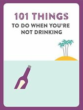 101 Things to do when you are not drinking Book Stocking Filler Gift for Him