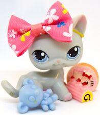 Littlest Pet Shop 246 Grey Short Hair Cat w/ Blue Eyes - Ink & Blemishes