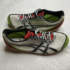 Asics Size 7 Running Track Cleats Men's GN803 Spikes White Green