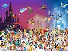 Disney All Characters - Children Cartoon Movie Art Poster & Canvas Picture Print