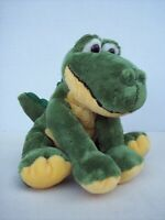 "Russ Shining Stars Alligator Plush Stuffed Animal Green Yellow 7.5"" Sitting"