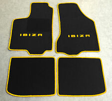 Autoteppich Fußmatten für Seat Ibiza 6K schwarz gelb 1993' - 2002' 4teilig Neu