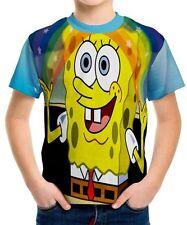 Spongebob Squarepants Boys Kids T-shirt Tee Age 3 4 5 6 7 8 9 10 11 12 13