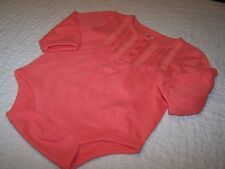 Girls 12-18 Mo~Body Suit~Peach, Solid, 3 button front~Baby Gap! Cute!!~NWOT