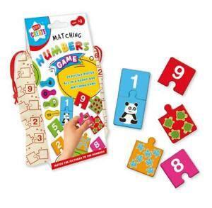 Kids Create Matching Numbers Game In a Cloth Bag Storage Bag New - MDOM