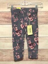 Next Girls Multi Color Pants Size 2-3 Corduroy Adjustable Waist Floral Nwt Lbb76