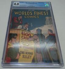 WORLD'S FINEST COMICS #28 RARE CGC UNIVERSAL GRADE 4.0 (DC Comics 1947) BATMAN