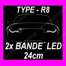 2 BANDE LED BLANCHE FEUX DE JOUR DIURNE FEU BLANC VW NEW BETTLE SHARAN TOUAREG