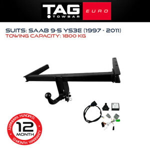 TAG Euro Towbar Fits Saab 9-5 1997 - 2011 Towing Capacity 1800Kg 4x4 4WD Exterio