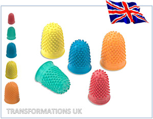 Finger Cone - Rubber Thimblettes - Thimble - Sewing - Various Sizes / Quantities