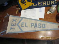 """vintage Tex El Paso blue Pennant  27"""""""