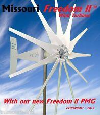 Missouri Freedom II 48/96 volt 2000 watt max 11 blade wind turbine generator