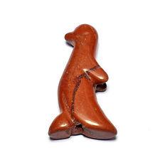 """DRAGON sangue JASPER Penguin CIONDOLO Perlina 3,2 cm, 1 1/4 """"Collana Gioielli Making"""