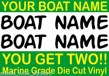 PERSONALISED CUSTOM BOAT JETSKI KAYAK NAME STICKERS Marine Grade Vinyl Lettering