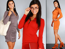 Womens Unique Cocktail Dress with Collar & Buttons Creases Size 8-12 HQ 6800