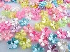 100 Pastel Pearly Mini Daisy Flower Craft Embellishment/Plastic Pearl/Bead B71