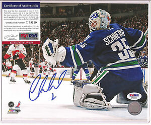 Cory Schneider Signed Vancouver Canucks 8x10 Photo PSA DNA COA Autographed a