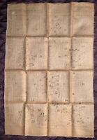 "Vintage Molter Primitive Hook Rug Pattern - Busy Hour - 28"" x 40"""
