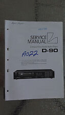Luxman d-90 Service Manual Original cd player compact disc Repair book