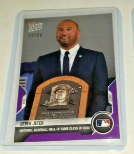 2021 Topps NOW #776 Derek Jeter Hall Of Fame Induction PURPLE PARALLEL 22/25