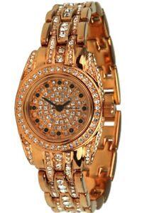 Roebelin & Graef Arc Royale IP Redgold Ø 26mm Ladies' Quartz Watch Zirconia Trim