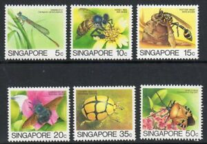 Singapore 1988/9 Insects x 6 values to 50c, Leigh Mardon printing fine fresh MNH