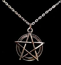 "Pentagram Necklace With 18""Chain Rock Emo Goth Grunge Star Mens Unisex Xmas *UK*"