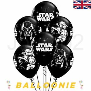 """12"""" Star Wars Black & White Latex Birthday Party Balloons Decoration Dad Space"""