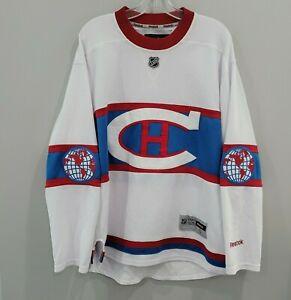 RARE Reebok Montreal Canadiens 2016 Winter Classic White Hockey Jersey Mens S