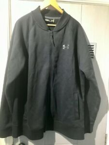 Under Armour Black Thermal Full Zip Top (FREE UK DELIVERY)