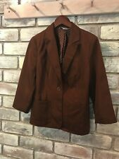 Red Herring Brown Everdyay Light Summer Cropped Blazer Jacket Skinny AU Size 8