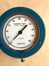 "Perma-Cal Test Gauge 101FTM06B21 /1 PSI Divisions / 0-200 Psi / Blue/1/4"" Bottom"