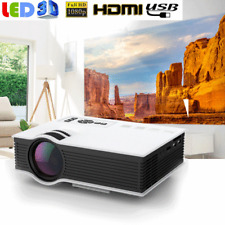 5000 Lumens 1080P HD Multimedia Mini Projector 3D LED Home Theater Cinema HDMI