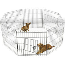 Tall Wire Fence Pet Dog Cat Folding Exercise Yard 8 Panel Metal Play-Pen