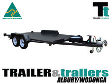 "16x6'6"" CAR CARRIER SEMI FLAT TOP TANDEM TRAILER - NEW WHEELS T&t Albury/Wodonga"