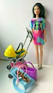 Barbie Babysitters with baby chair  & Stroller Playset (G1)