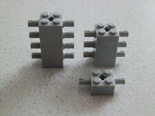 Lego 30000# 8x Achse 2x2 hoch mit 2 Pins grau neu hellgrau 7261 7965 10198