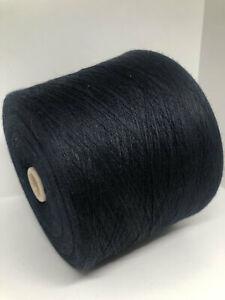 Dark Blue Merino Weaving 2ply Cone Yarn, Italian Yarn on Cone per 3.5oz (100g)