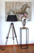 Stehlampe Lampe Leuchte Stehleuchte Holz Höhe 145cm Dreibein Stativ Leselampe