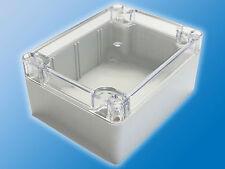 Industrie Aufputz Gehäuse   IP65   Modell G212C   Hellgrau   klare Abdeckung