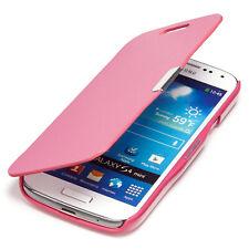 Samsung Galaxy S4 Mini Hülle Tasche Flip Case Schutz Etui Wallet Book Cover Pink
