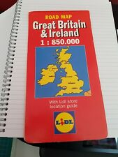 Road Map Great Britain & Ireland with Lidl store location guide