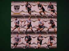 2007 NEW ZEALAND WARRIORS NRL SELECT INVINCIBLE TEAM SET OF 12 CARDS.
